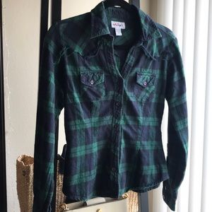 Tops - Plaid button shirt